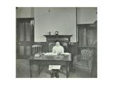 Female Student Sitting at Desk  Shoreditch Technical Institute  London  1907