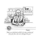 """And  as we look back on 2015  let's take a moment of silence for those wh…"" - Cartoon"