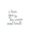 I love You to the Moon & Back Silver