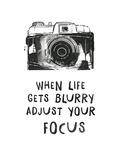 When Life Gets Blurry Reproduction d'art par Peach & Gold
