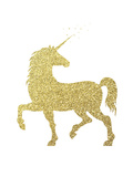 Gold Glitter Unicorn