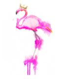 Flamingo Crown Print