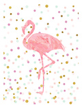 Pink Flamingo on Confetti