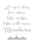 Let Her Sleep Mountains Gray Reproduction d'art par Amy Brinkman