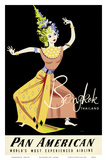 Bangkok  Thailand - Pan American Airlines (PAA) - Thai Woman Classical Dancer