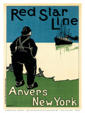 Anvers - New York by Red Star Line Navigation Company