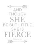 She Is Fierce Gray