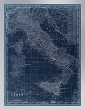 Map of Italy Blueprint