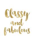 Classy Fabulous Gold White