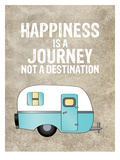 Camper Happiness Is Journey Reproduction d'art par Amy Brinkman