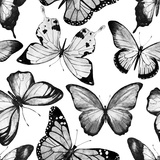 Watercolor Butterfly Pattern Raster
