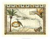 Carte tropicale des Antilles Giclée par Vision Studio