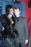 "David Bowie and Iman at the Prince of Wales ""Concert of Hope"" for World AIDS Day  London  1993"