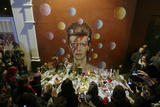 David Bowie Fans Gather around Mural after the Artist's Death on Jan 10th  2016  South London