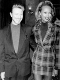 "David Bowie and Iman at Premiere of ""Niel"" in New York  1994"