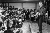 David Bowie Being Photographed by Press at Conference in Tokyo  Japan  1990