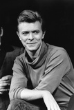 "David Bowie During News Conference for Broadway play ""The Elephant Man""  1980"