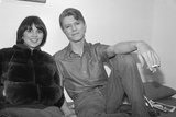 "David Bowie and Linda Ronstadt Backstage of Broadway Play ""The Elephant Man""  Booth Theater  1980"