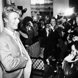David Bowie During Press Photo Call in London  1983
