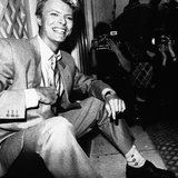 David Bowie Being Photographed at Press Reception in London's Claridge Hotel  1983