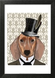 Dachshund Dog With Top Hat