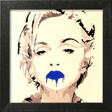 Madonna Pop Art Blue Lips