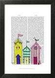Beach Huts 1 Illustration
