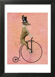 Greyhound on Black Penny Farthing