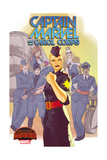 Marvel Secret Wars Cover  Featuring: Captain Marvel  Carol Corps