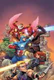 Avengers Vs No 1 Cover  Featuring: Hawkeye  Black Widow  Captain America  Red Skull  Hulk and More