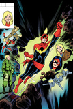 Captain Marvel No 10 Cover  Featuring: Captain Marvel  Spider Woman  Kit Renner