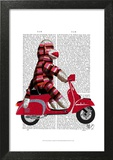 Sock Monkey on Moped
