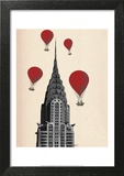 Chrysler Building and Red Hot Air Balloons