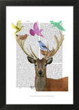 Deer and Birds Nests Pastel Shades