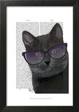 Black Cat with Sunglasses