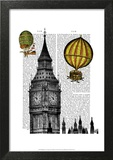 Big Ben and Vintage Hot Air Balloons