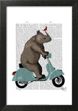 Rhino on Moped