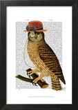 Owl with Steampunk Style Bowler Hat