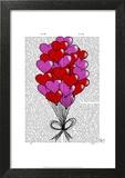 Valentine Heart Balloon Illustration