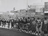 New York Giants Football Team During a Moment of Prayer for President John Kennedy