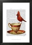 Teacup And Red Cardinal