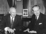 President Eisenhower with British Prime Minister Harold Macmillan in the Oval Office