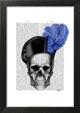 Skull with Blue Hat