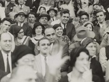 Al Capone (Center)  Seated in Front of Three Women  Watching a College Football Game