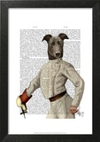 Greyhound Fencer in Cream Portrait