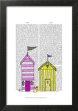 Beach Huts 3 Illustration