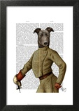 Greyhound Fencer Dark Portrait