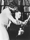 Marian Anderson with Her Coach  Prof Kurt Johnen  in Berlin  1931