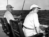 President Harry and Bess Truman Fishing Near Key West  Florida  Dec 2  1949