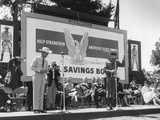 Actor Clayton Moore in His Lone Ranger Character Promotes US Savings Bonds